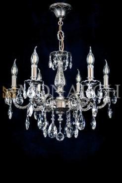 Серебряная люстра на 6 ламп